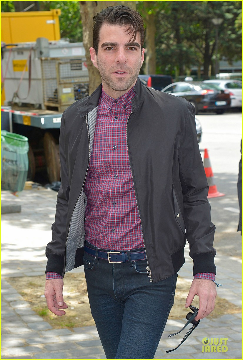 zachary quinto christian dior paris fashion show 04