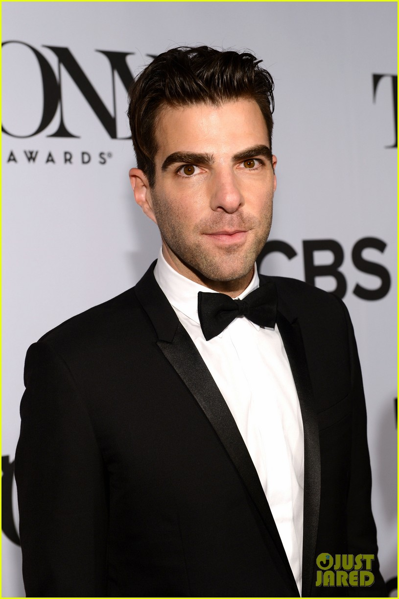 zachary quinto tony awards 2013 red carpet 01