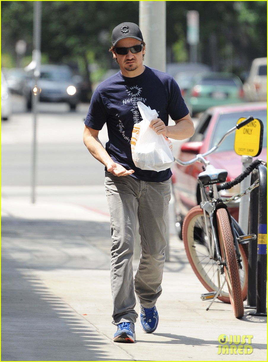 jeremy renner picks up office supplies take out food 082892071