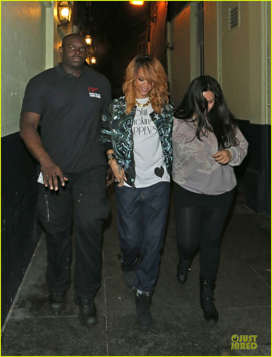 rihanna lillie bordello nightclub with jennifer rosales 142896114