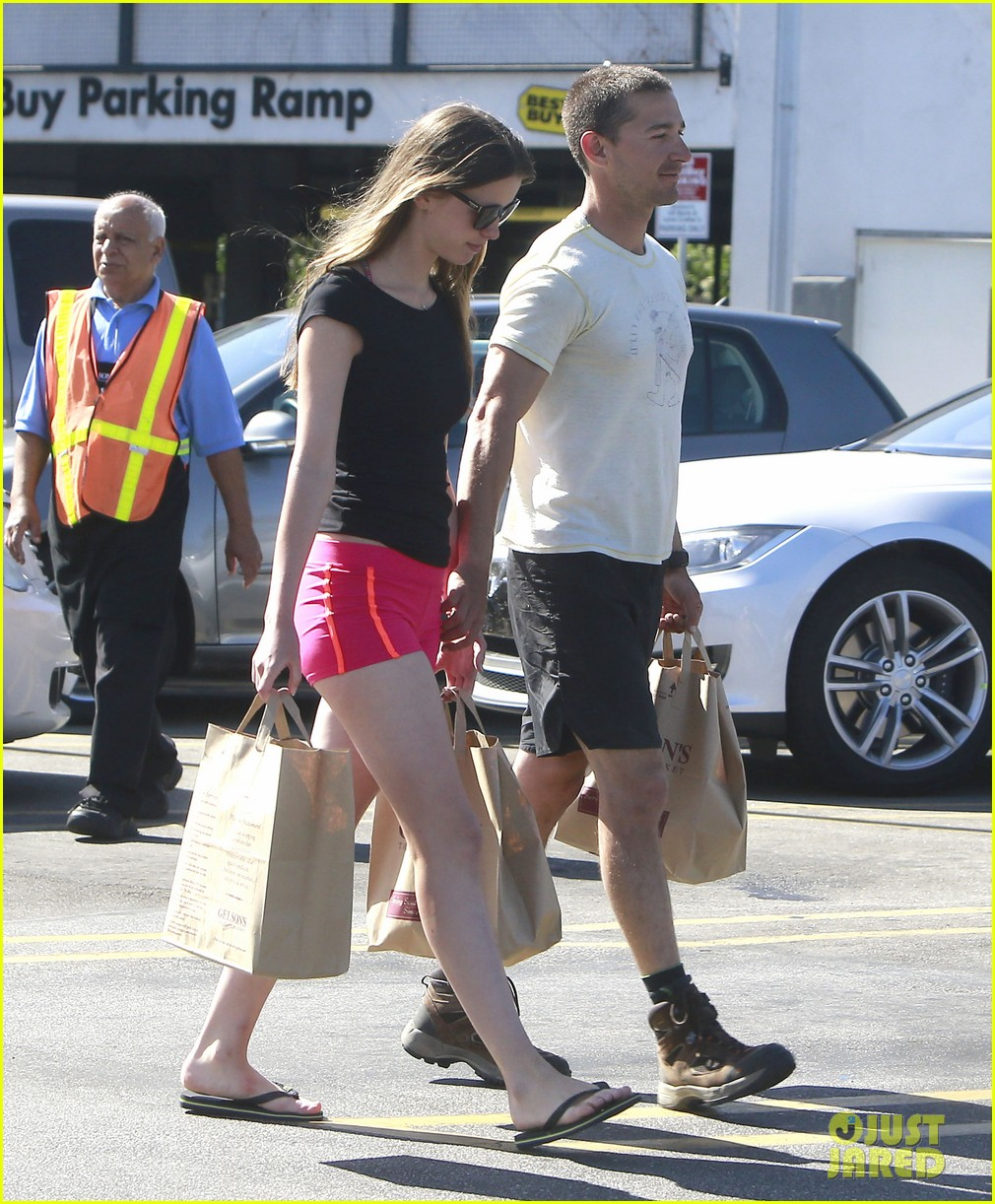 shia labeouf mia goth stock up for summer weekend 152895815