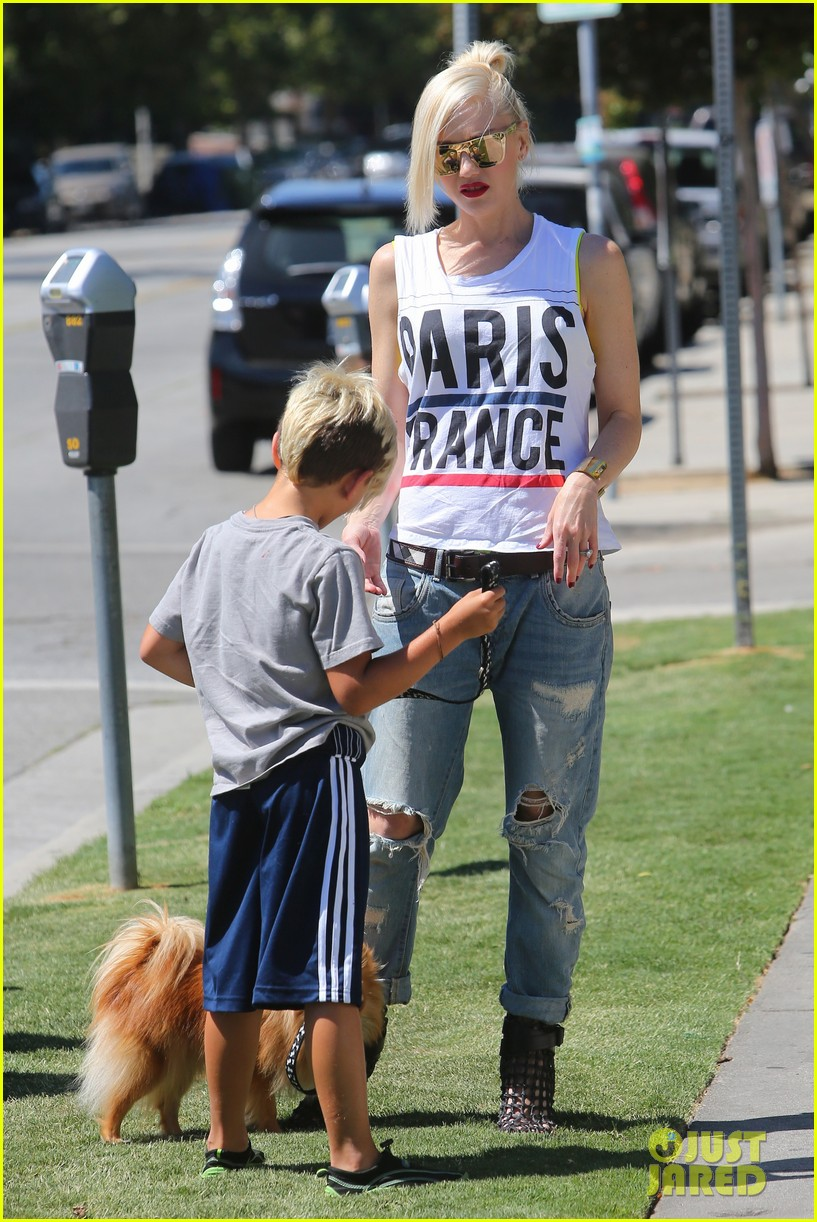 gwen stefani gavin rossdale ice cream with the kids 10