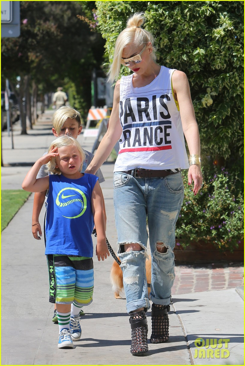 gwen stefani gavin rossdale ice cream with the kids 18