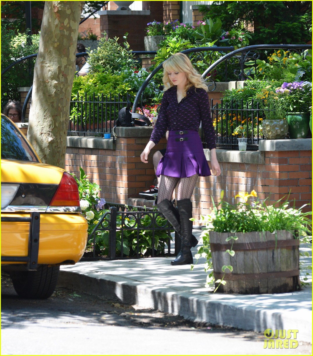 emma stone andrew garfield film spiderman with sally field 15