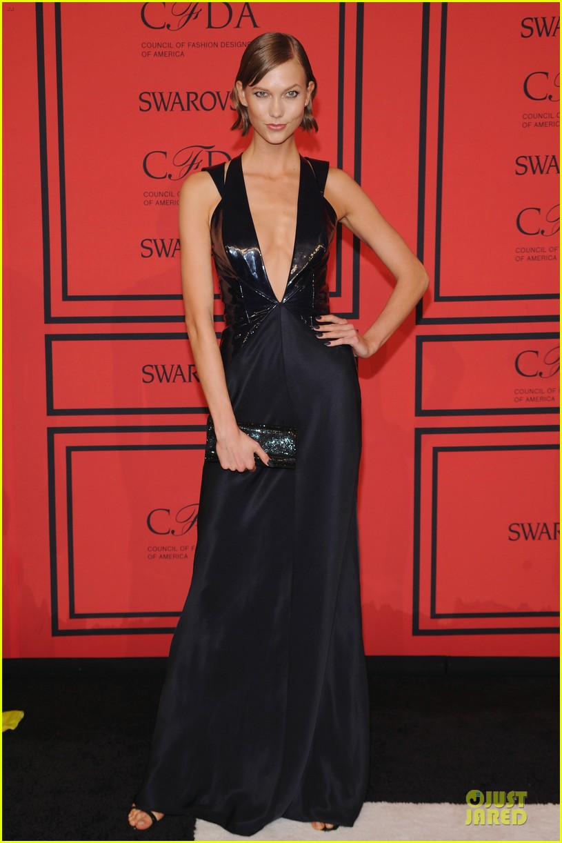 candice swanepoel karlie kloss cfda fashion awards 2013 red carpet 12