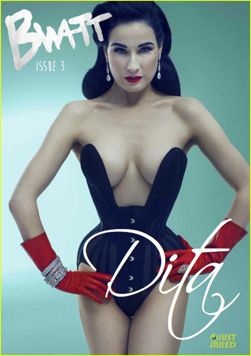 dita von teese covers bwatt magazine issue 3 04