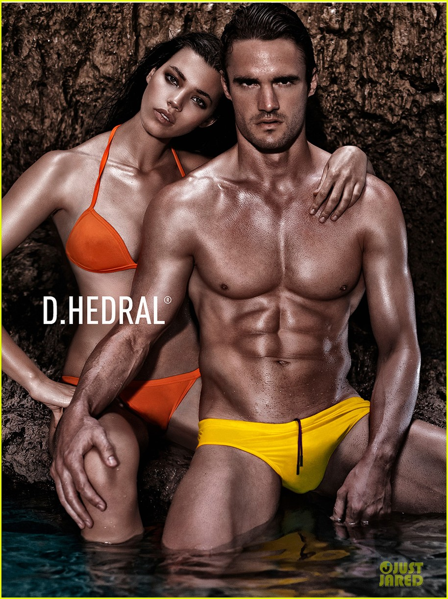 thom evans shirtless d hedral beachwear campaign 05