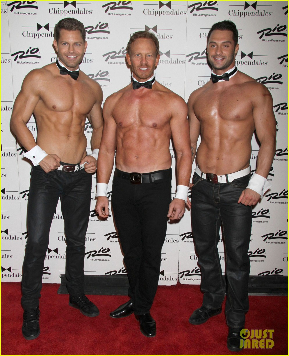 ian ziering shirtless chippendales debut 15