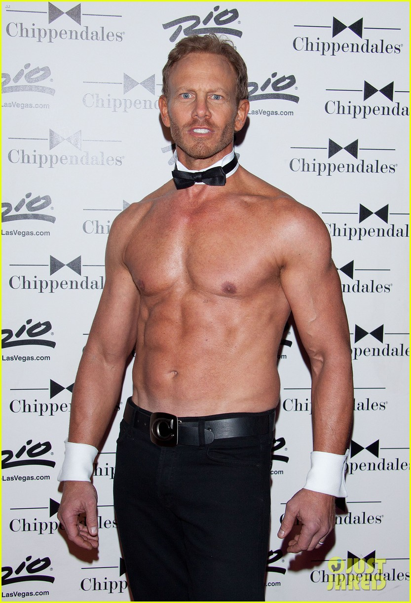 ian ziering shirtless chippendales debut 192887427