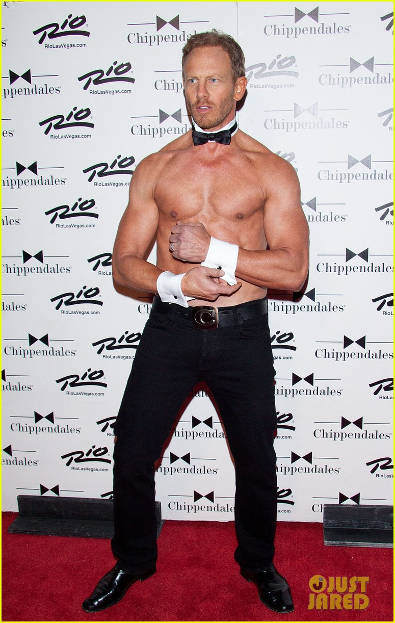 ian ziering shirtless chippendales debut 22
