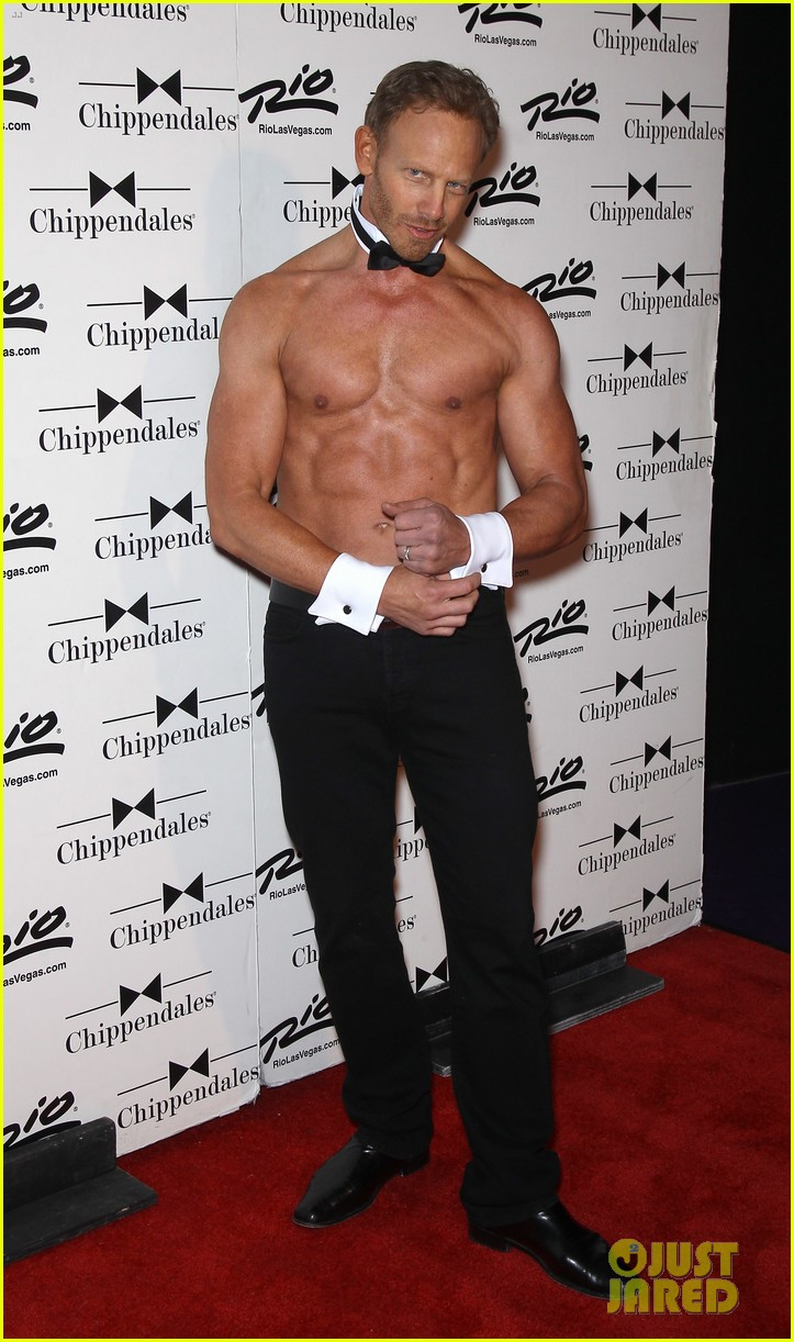 ian ziering shirtless chippendales debut 28