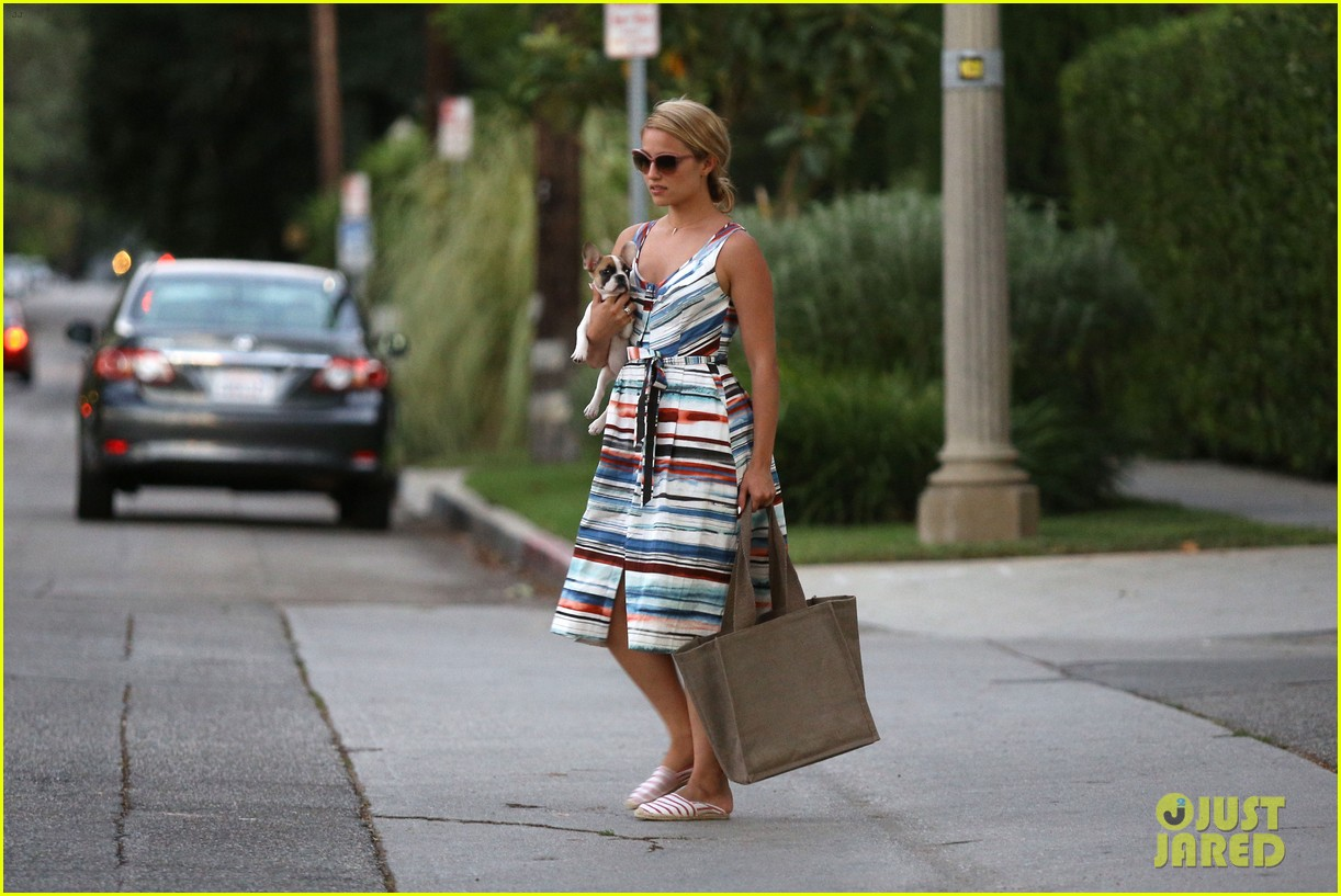 dianna agron kisses her new puppy on wednesday outing 162911292