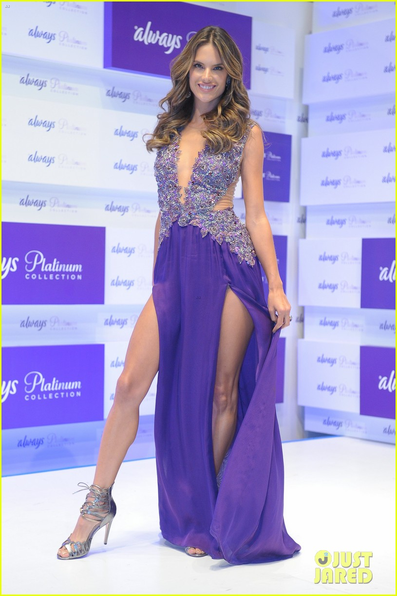 alessandra ambrosio always platinum collection launch 11