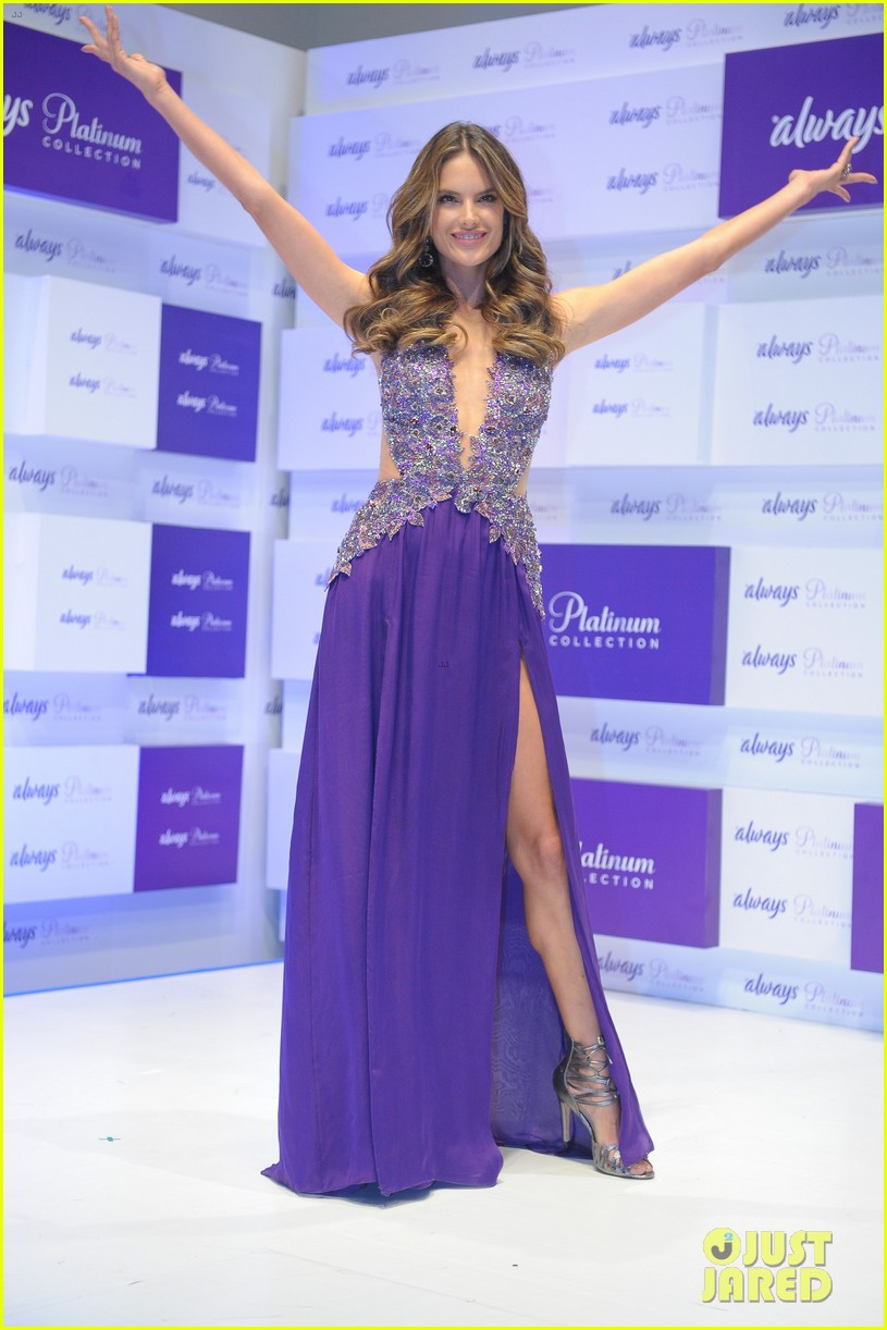 alessandra ambrosio always platinum collection launch 13
