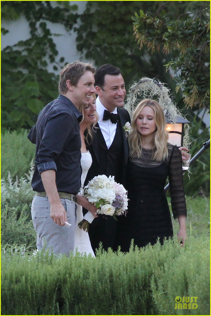 kristen bell dax shephard jimmy kimmel molly mcnearney wedding pic 14