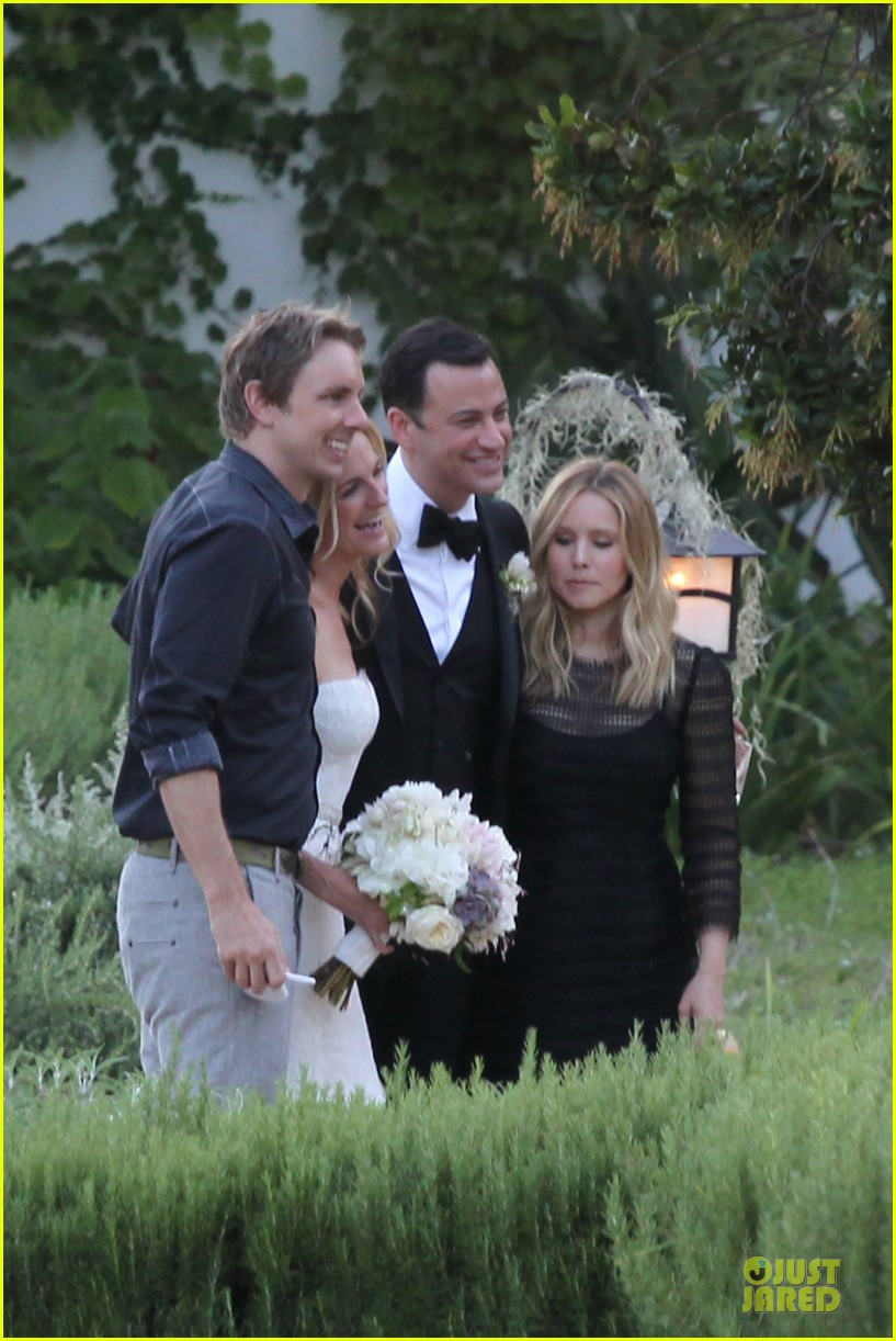 kristen bell dax shephard jimmy kimmel molly mcnearney wedding pic 16