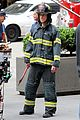 matt bomer fire fighter on white collar set 09