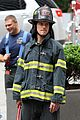 matt bomer fire fighter on white collar set 12