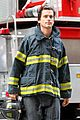 matt bomer fire fighter on white collar set 14