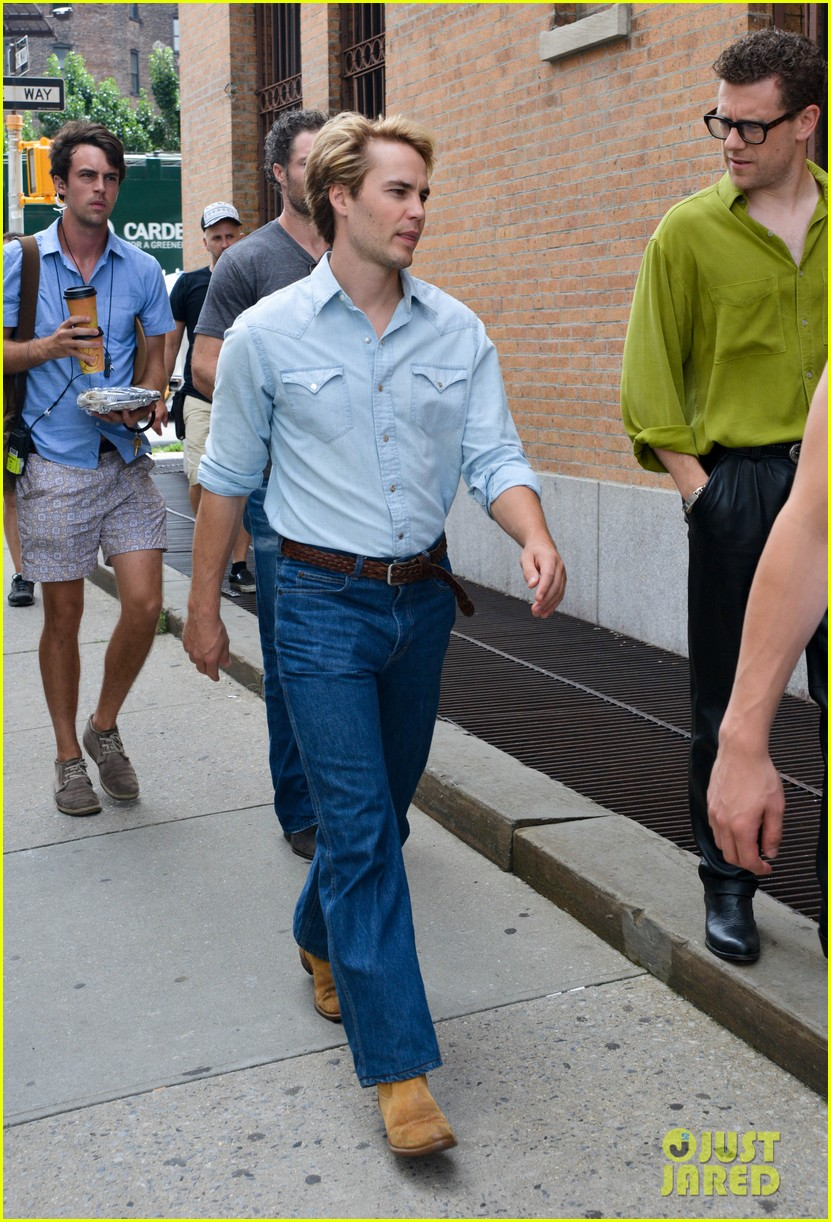 matt bomer taylor kitsch film normal heart in nyc 09