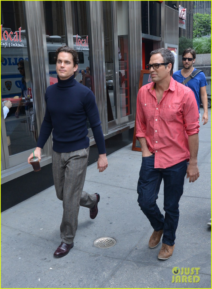 matt bomer taylor kitsch film normal heart in nyc 152903264