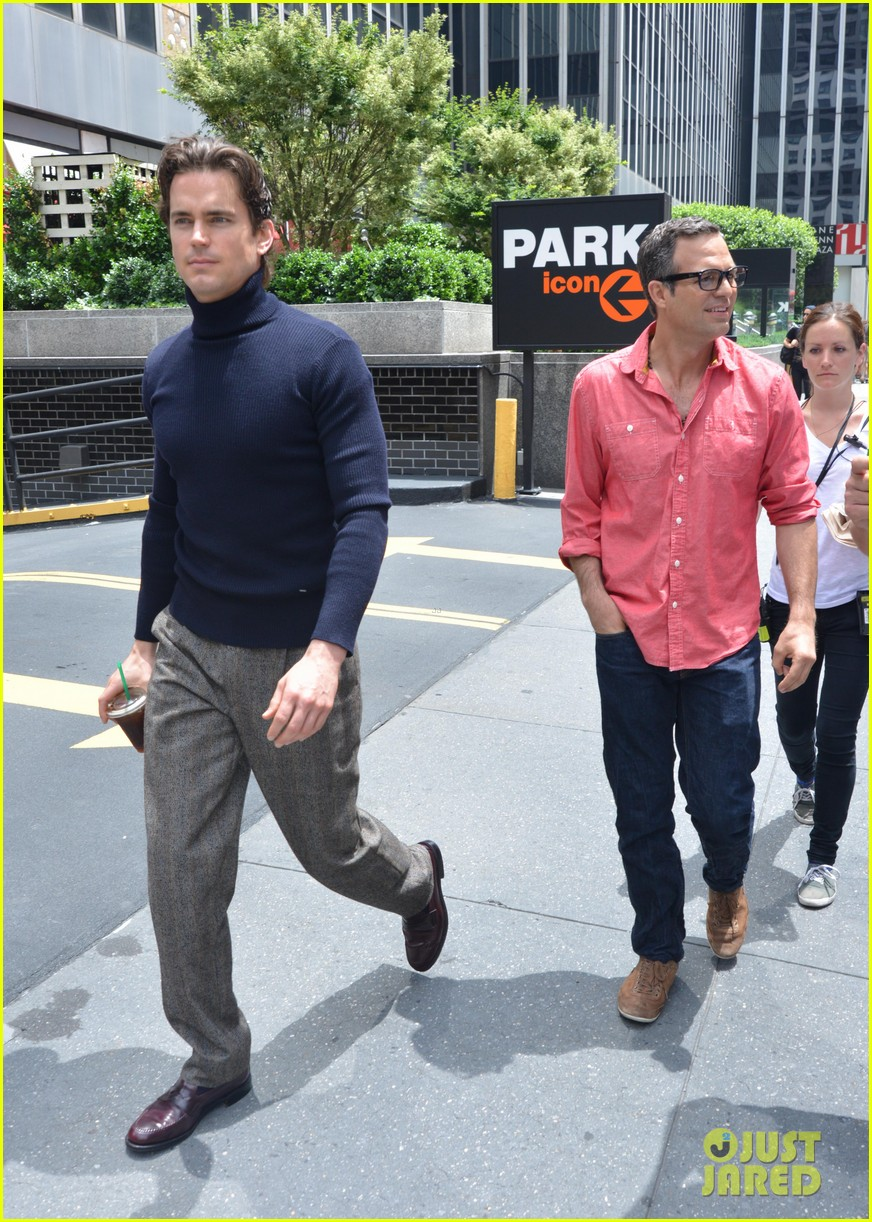 matt bomer taylor kitsch film normal heart in nyc 172903266