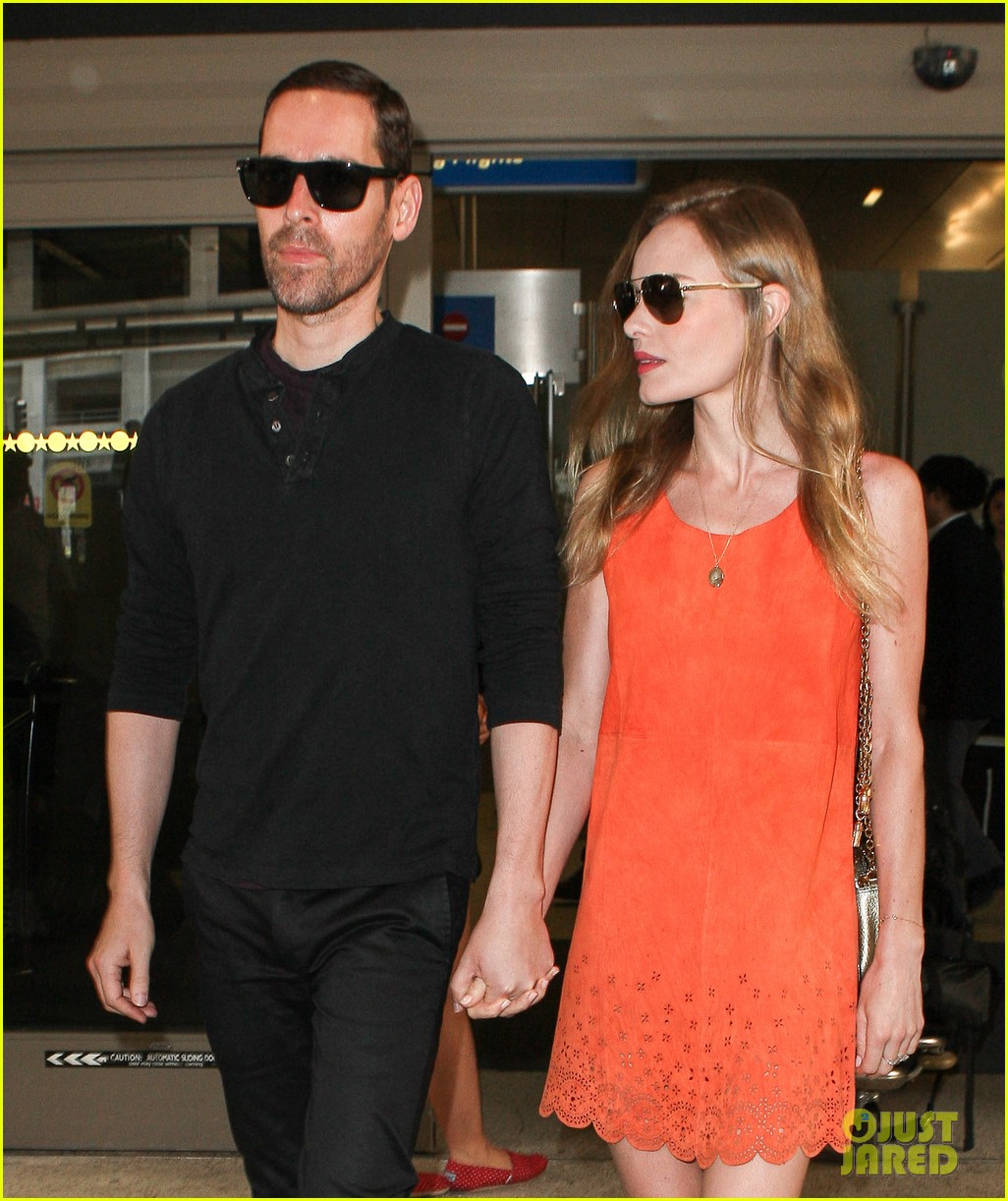 kate bosworth michael polish land at lax on july 4th 02