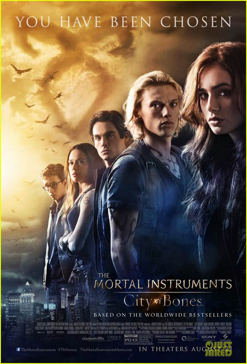 lily collins jamie campbell bower new mortal mortal instruments poster 01