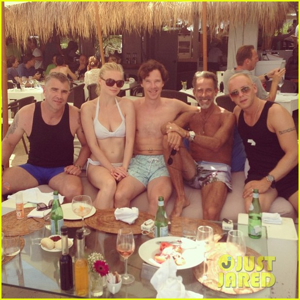 benedict cumberbatch shirtless wedding weekend 02