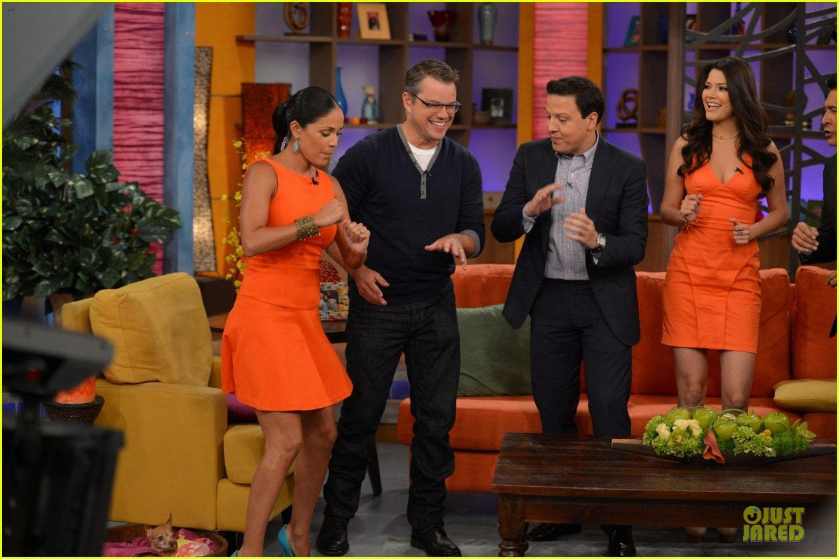 matt damon elysium promotion on despierta america 012919587