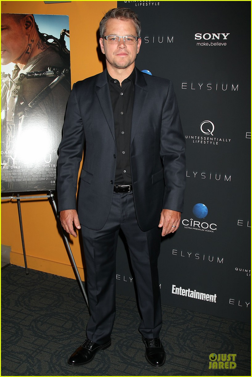 matt damon kellan lutz elysium nyc screening 012920495