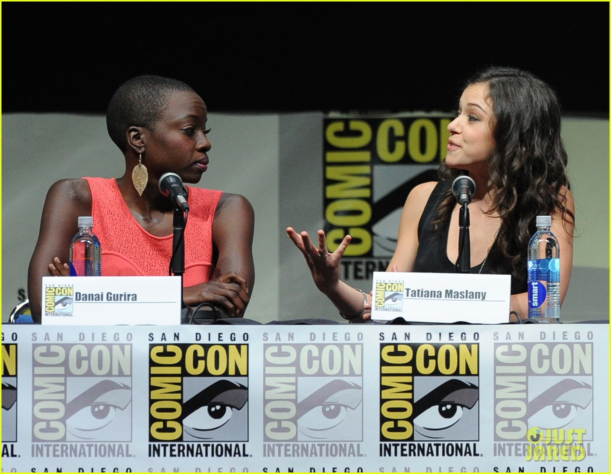 danai gurira tatiana maslany women who kick ass comic con panel 09