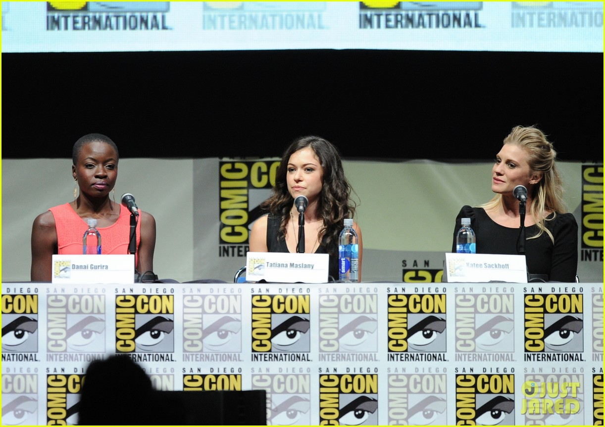 danai gurira tatiana maslany women who kick ass comic con panel 15
