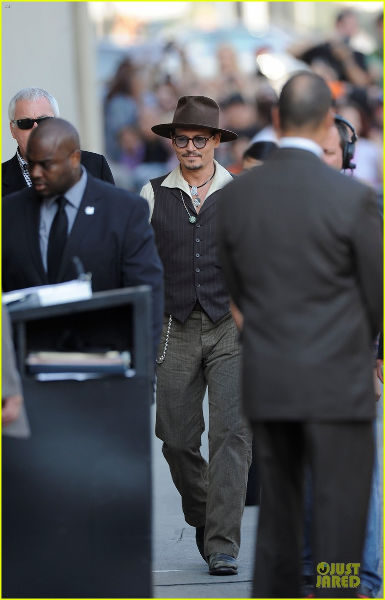 johnny depp lone ranger promotion on jimmy kimmel live 05