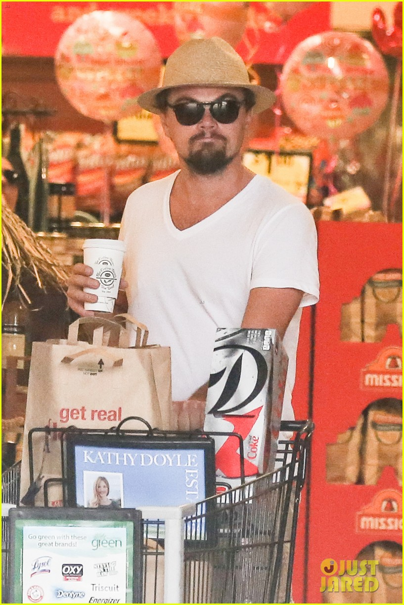 leonardo dicaprio fourth of july grocery shopping 032903994