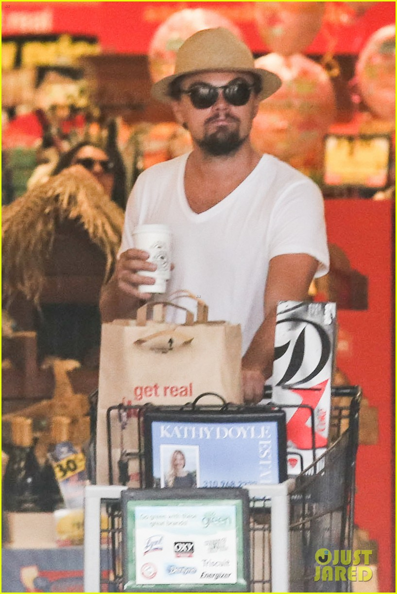 leonardo dicaprio fourth of july grocery shopping 072903998