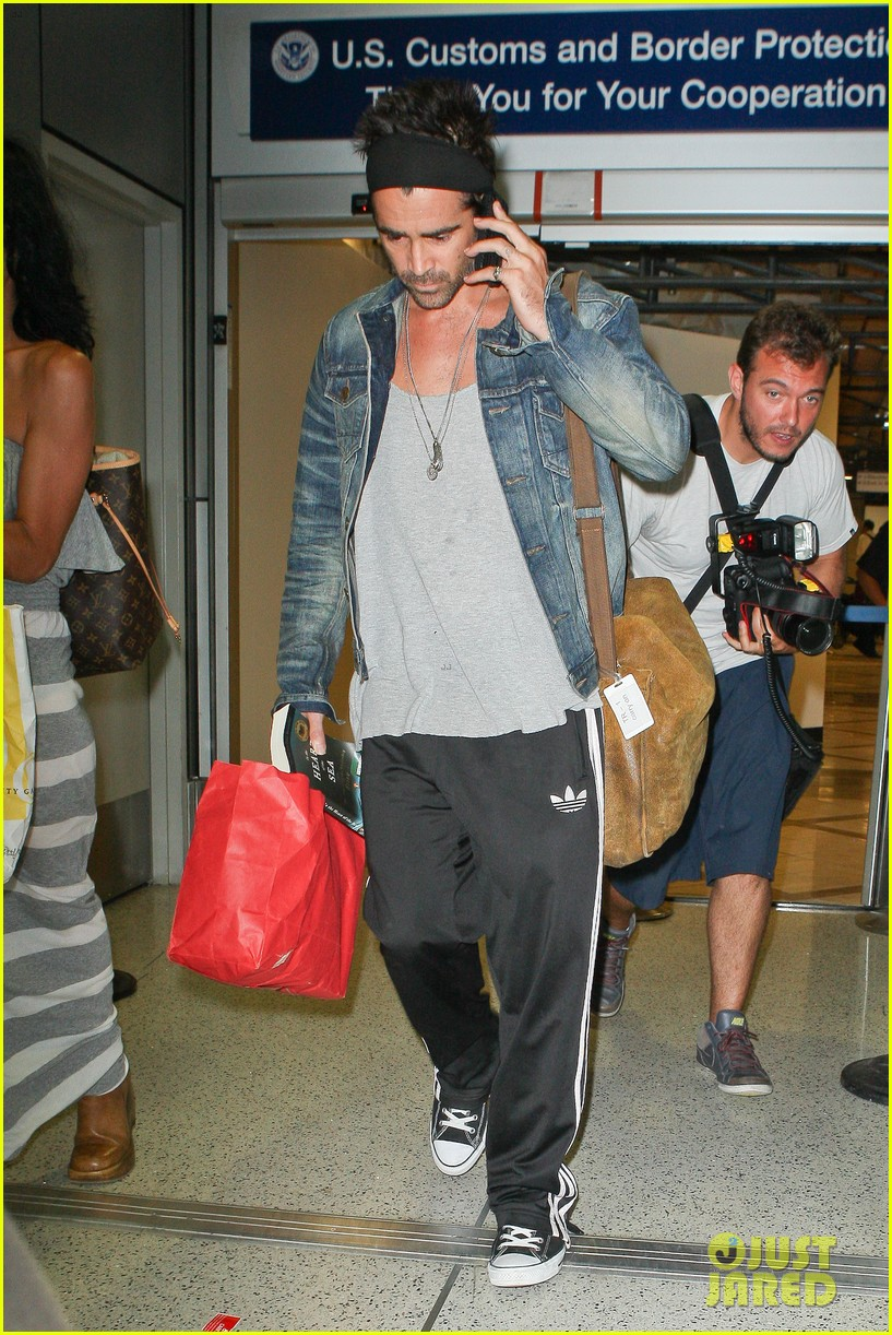 colin farrell spiky hair headband for lax look 052911311