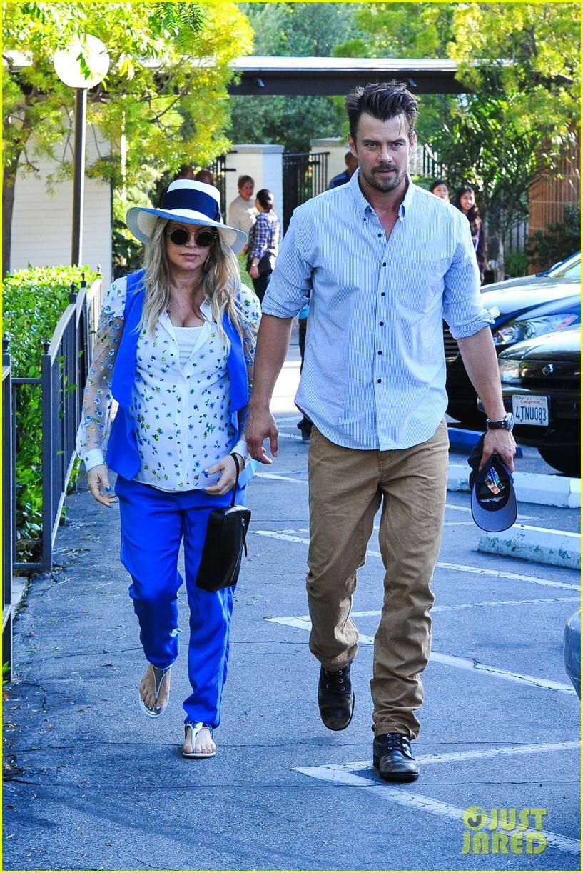 fergie josh duhamel go to church before baby shower day 20