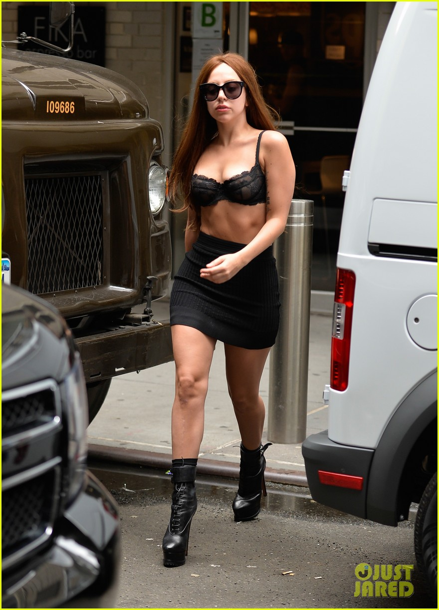 lady gaga wears bra as shirt in new york city 012907949