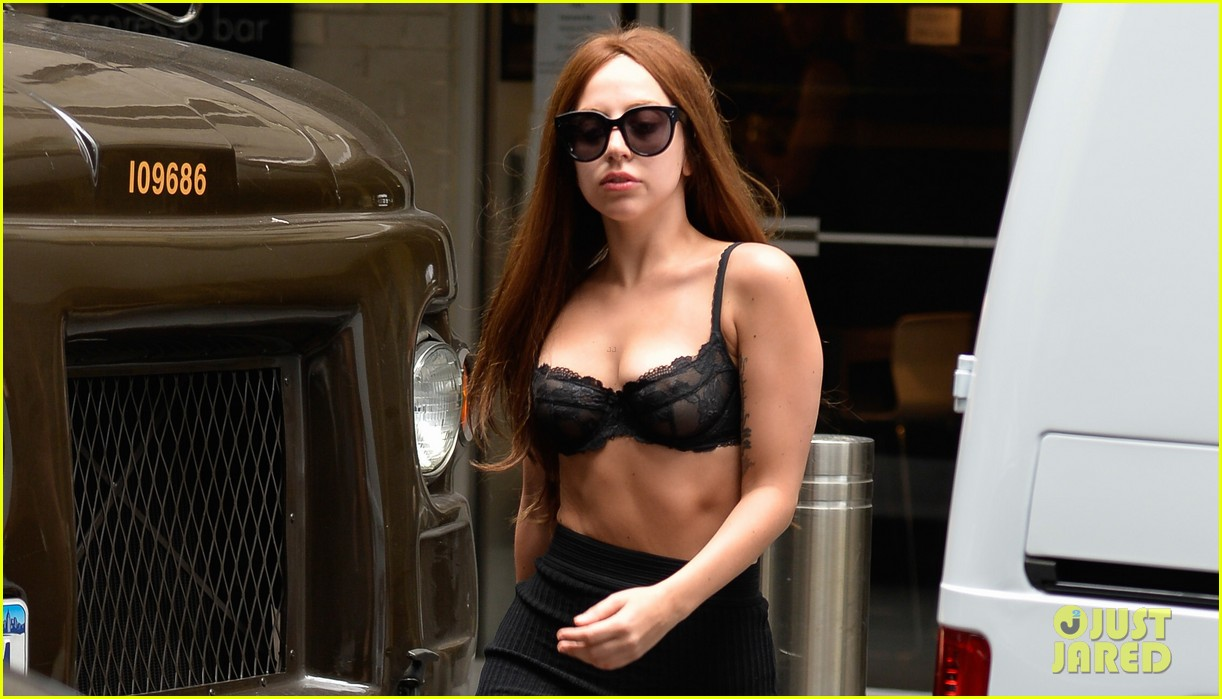 lady gaga wears bra as shirt in new york city 032907951