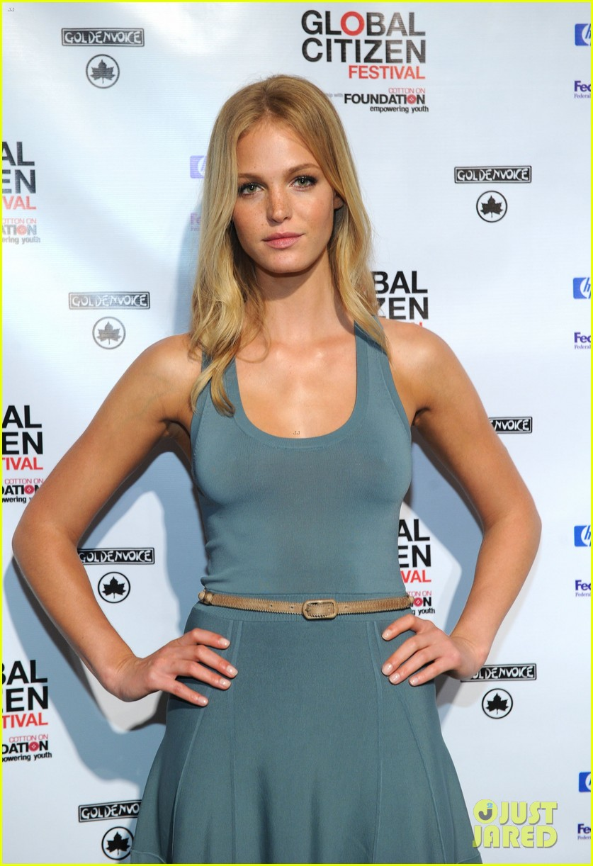 erin heatherton global citizen festival press conference 2013 08