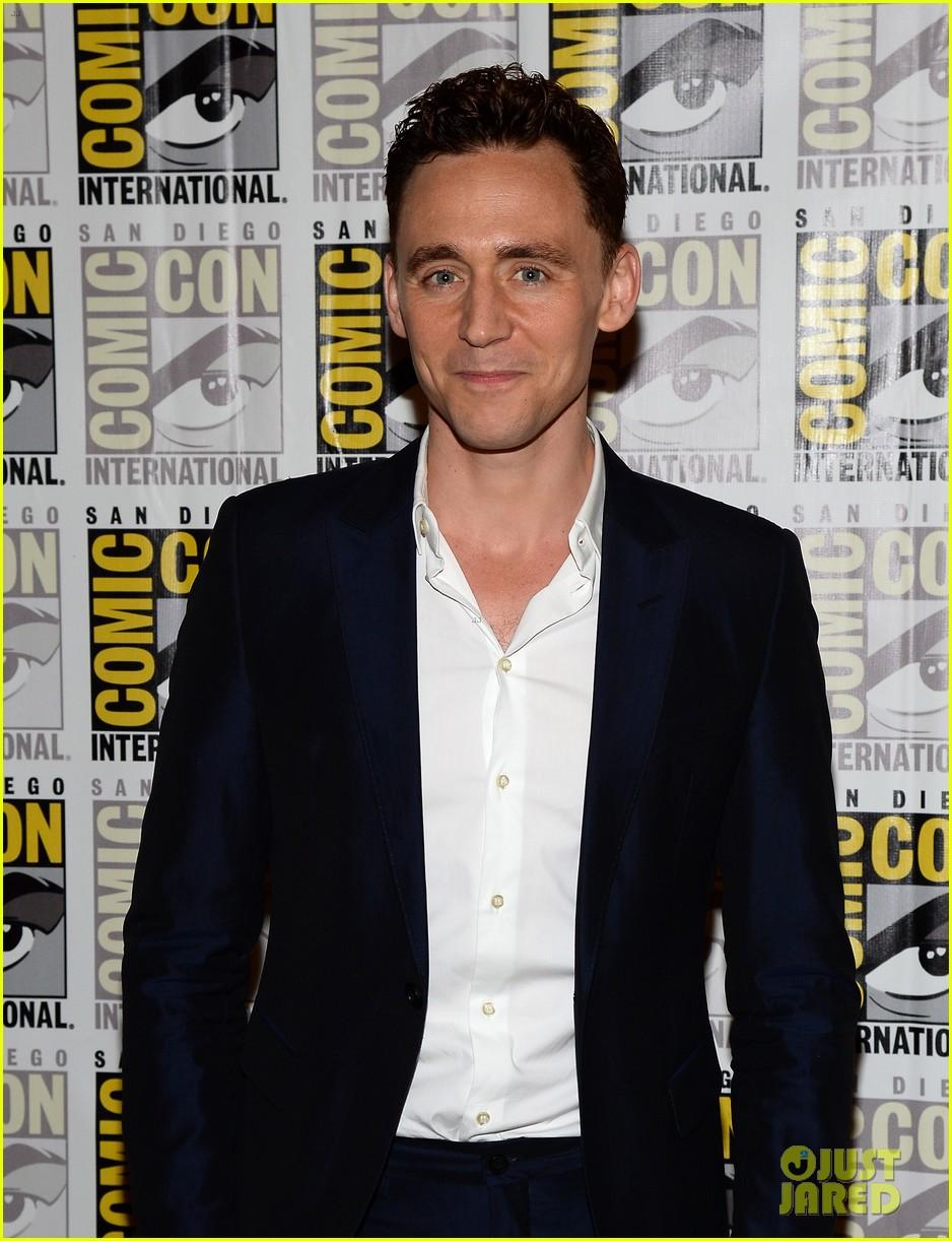 tom hiddleston attends thor comic con panel as loki 152913462