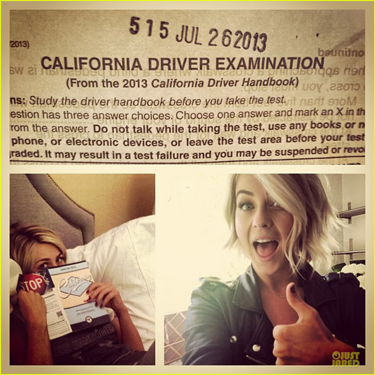 julianne hough trades tennessee for california drivers license 052917887
