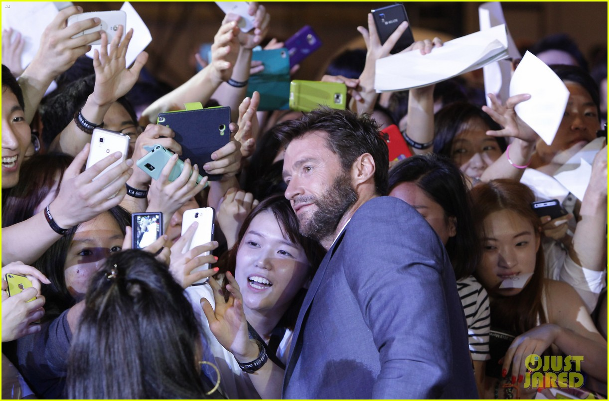 hugh jackman the wolverine south korea premiere 03