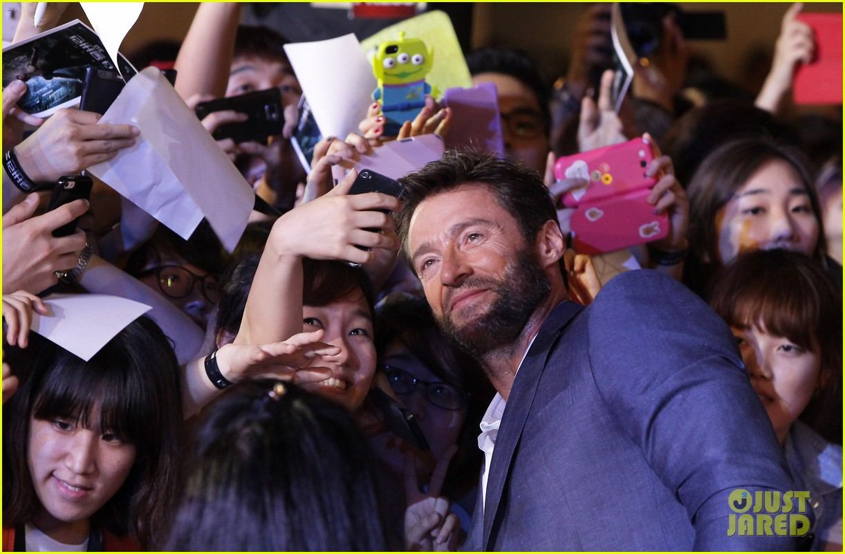 hugh jackman the wolverine south korea premiere 08