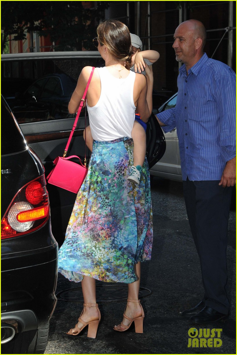 miranda kerr drops by milk studios with flynn 052905986