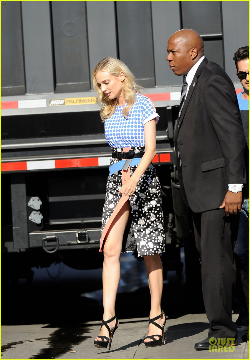 diane kruger the bridge promotion on jimmy kimmel live 06