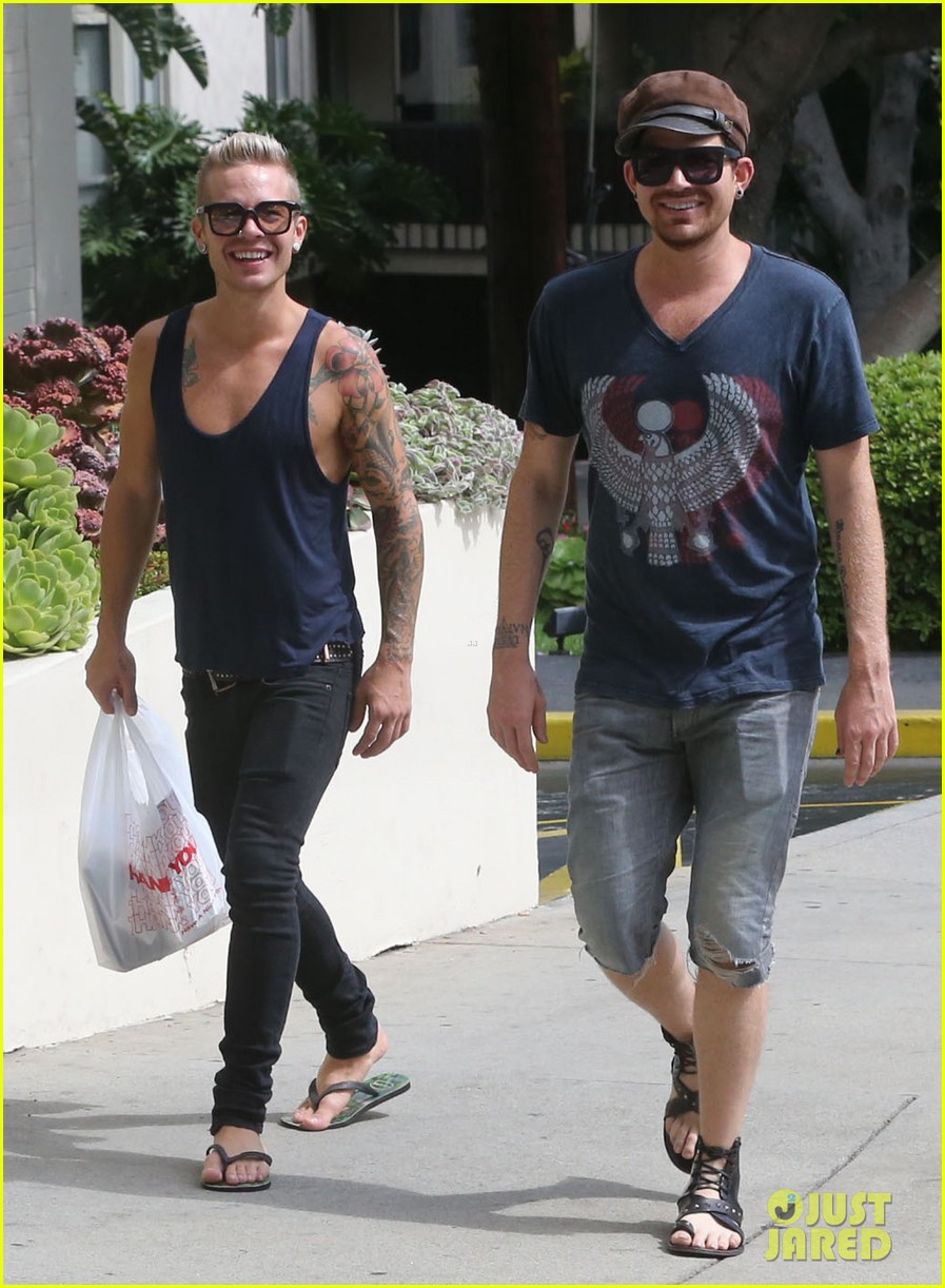 adam lambert steps out with ex sauli koskinen after cory monteith condolence 172909512