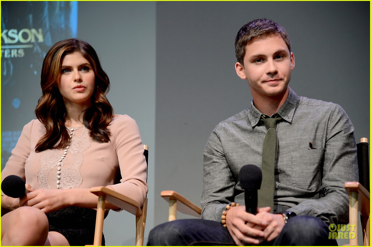 logan lerman alexandra daddario percy jackson promo at apple 04