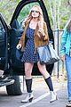 lindsay lohan released from rehab smiles while leaving 12